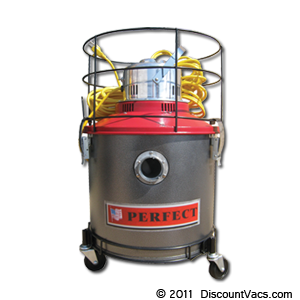 Perfect PWD8 8 Gallon Wet/Dry Industrial Canister Vacuum with Optional HEPA Cartridge Filter