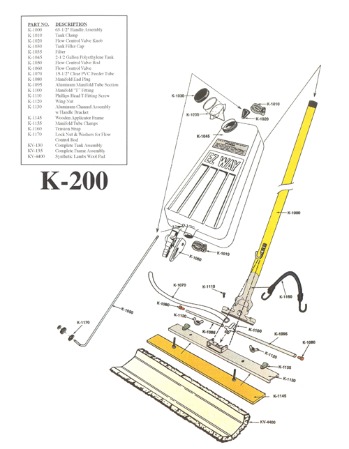 K-200 E-Z Way Floor Applicator Schematic