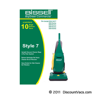 Bissell BigGreen Commercial Bags for BGU1451T, Part # U1451-PK10