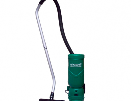 The all new Bissell BGBPO6H 6 quart Commercial Backpack vacuum cleaner is stronger than ever!